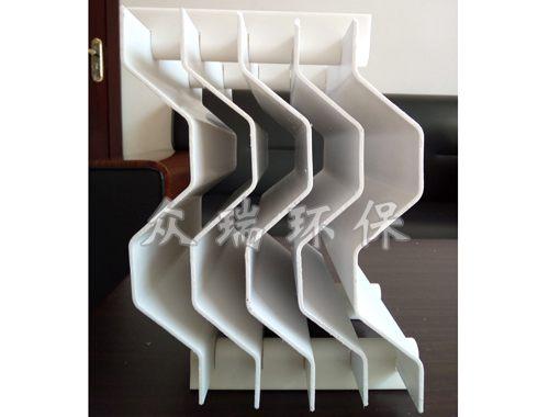 对称式折板型叶片(三通道)-卡条装